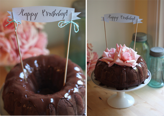 Birthday Bundt Cake Decorating Ideas Triple Chocolate Recipe 2
