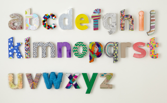 Try this: Decorated Kraft Paper Letters  Crate&Kids Blog