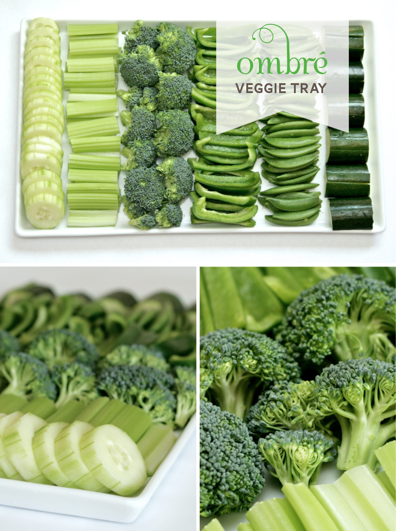 Ombre Veggie Tray for St. Patrick's Day