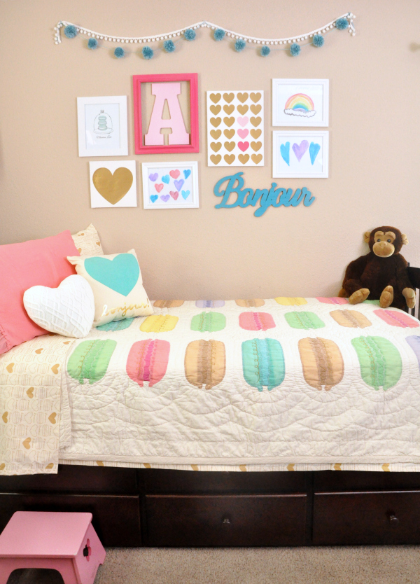 Macaron Inspired Girls Bedroom Makeover   1