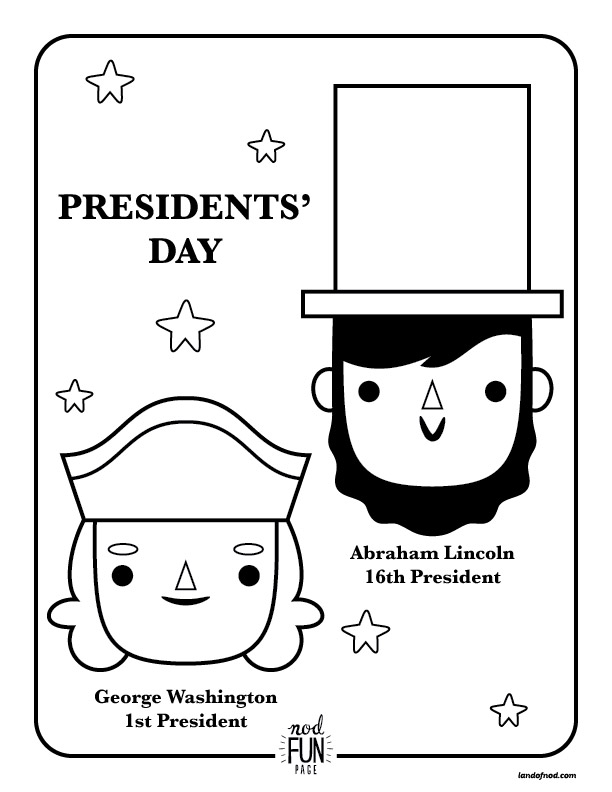 Nod Printable Coloring Page: Presidents Day | Crate&Kids Blog