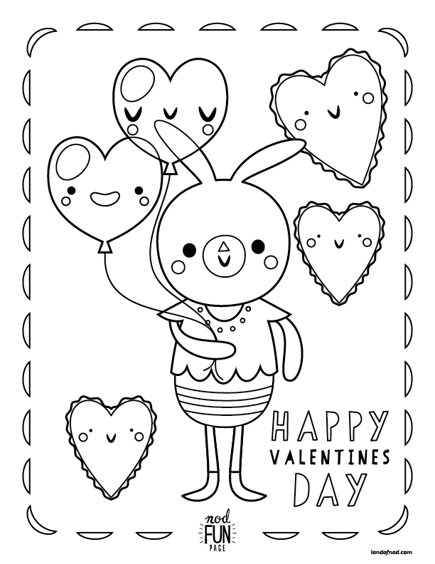 - Nod Printable Coloring Page: Valentine's Day Crate&Kids Blog