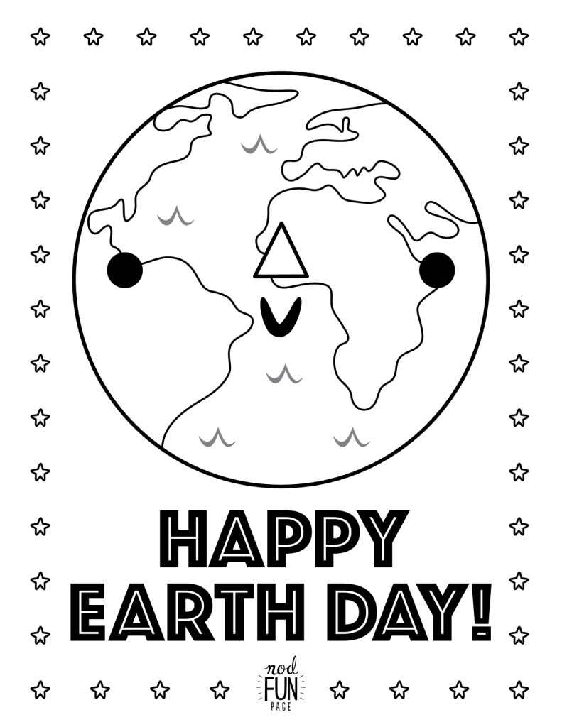 Printable Coloring Pages: Earth Day | Crate&Kids Blog