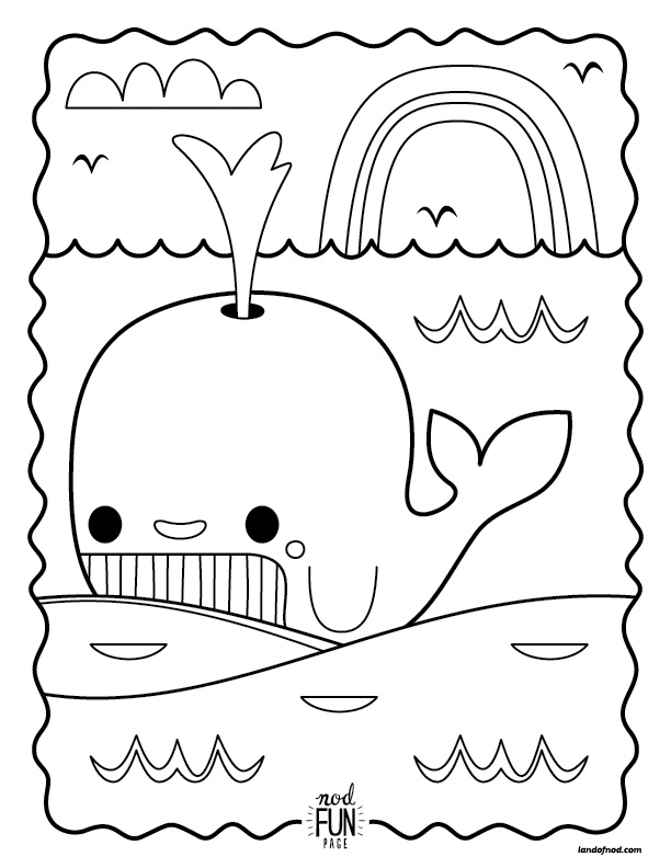 Nod Printable Whale Coloring Page – Perfect For Road Trips!