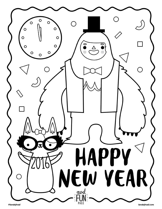 Happy New Year Coloring Pages | New year coloring pages, Printable ... | 792x612