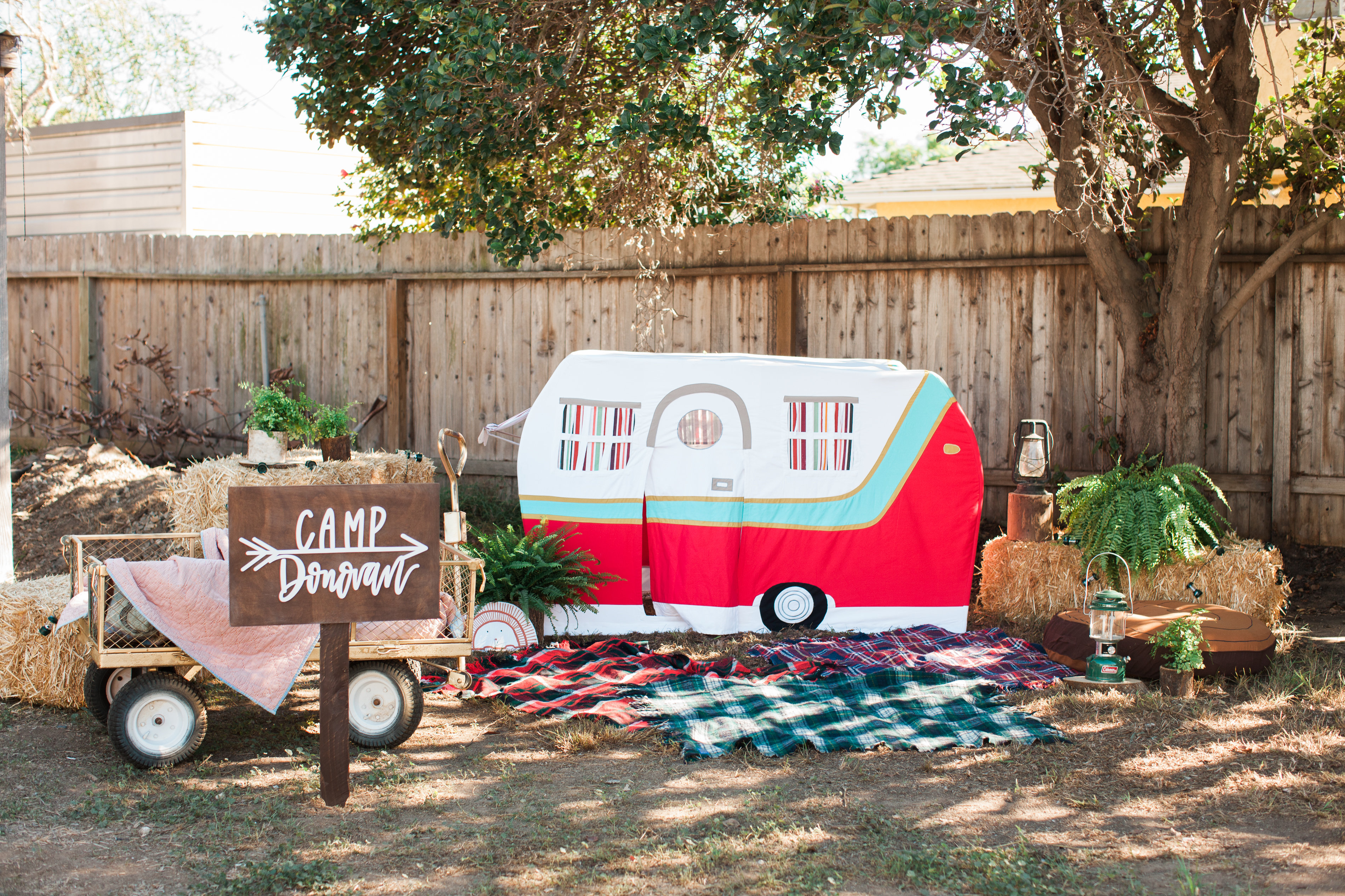 Camping Themed First Birthday Party