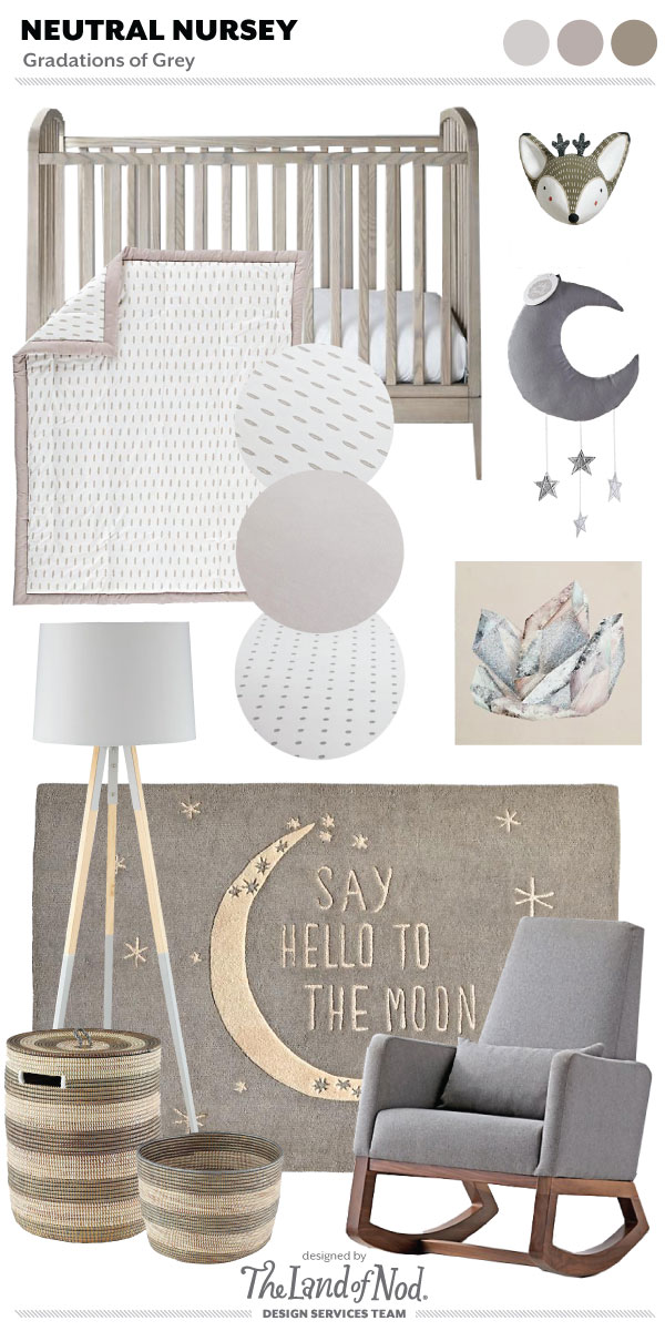 Gender Neutral Grey Nursery Moodboard Crate Amp Kids Blog