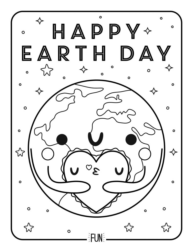 Free Printable Coloring Page Earth Day Honest to Nod