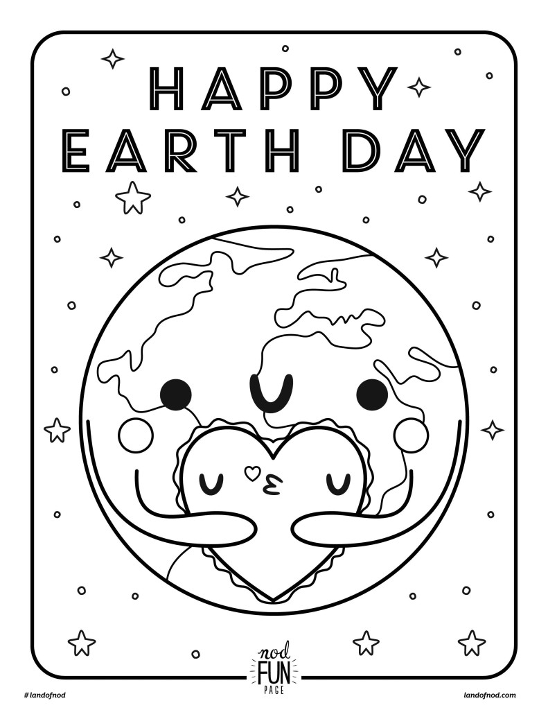 free printable coloring page earth day crate kids blog. Black Bedroom Furniture Sets. Home Design Ideas