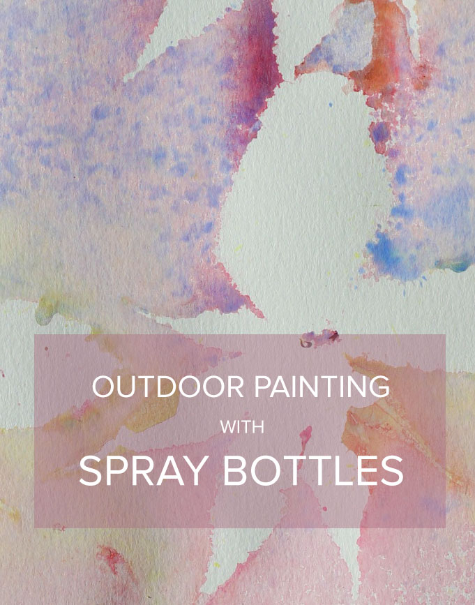 Diy Spray Bottle Painting Kids Craft Crate Kids Blog