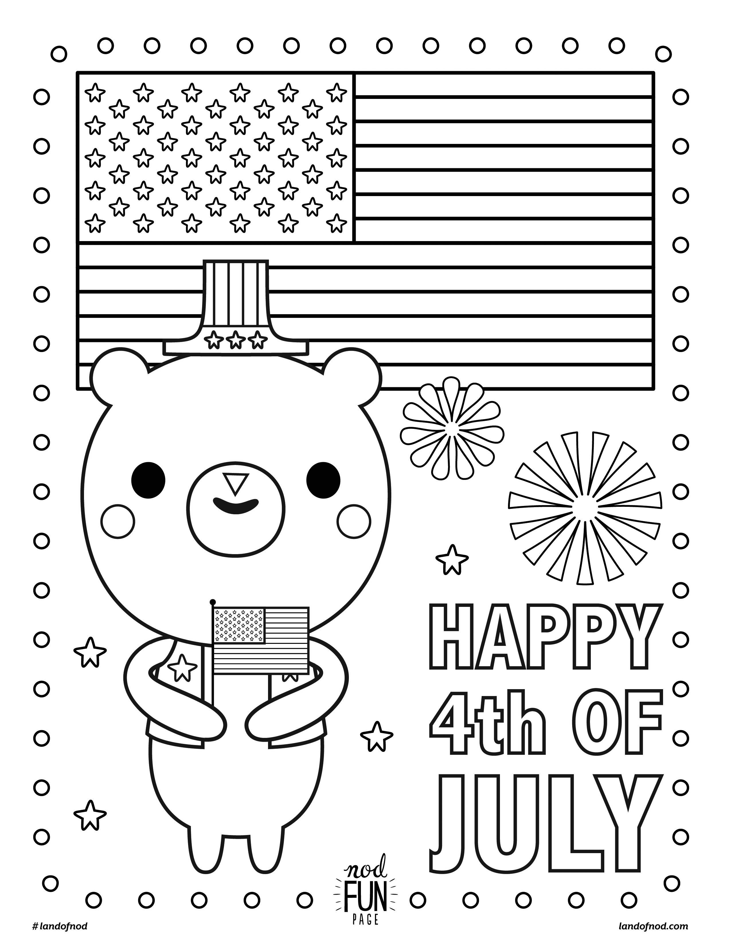 Free Printable Coloring Page 4th Of July Crate Kids Blog