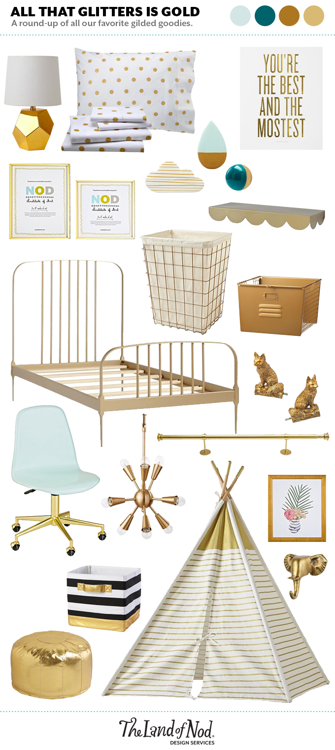Gold decor for your home honest to nod for Decor gold blog