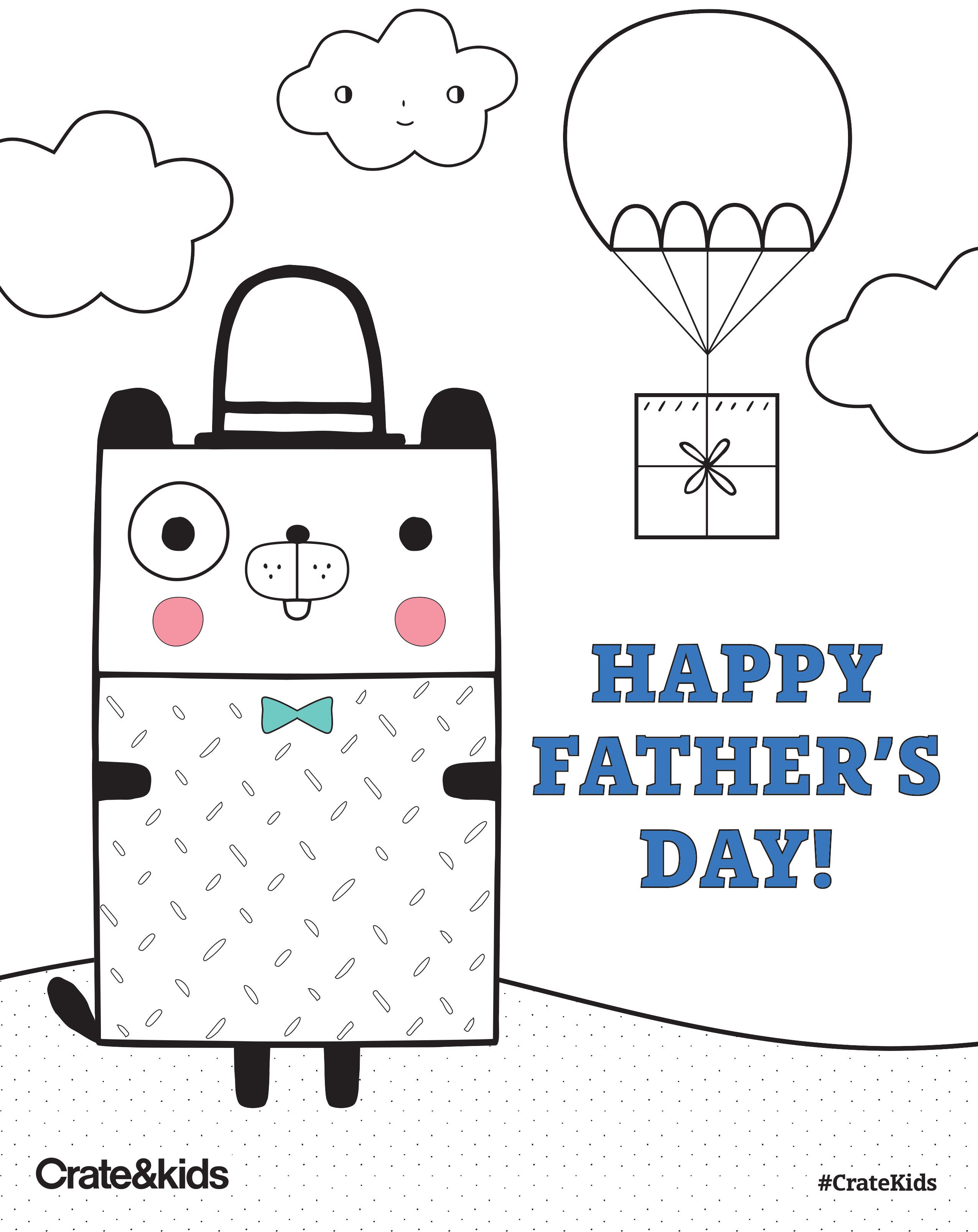 Father S Day Free Printable Coloring Page